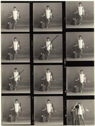 Jean-François Bauret Proposal for Mitoufle advertisement 1966 Silver gelatine print on paper [contact sheet] © Jean-François Bauret