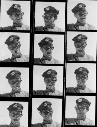 Jean-François Bauret  Proposal for Esso advertisement Around 1965 Silver gelatine print on paper (contact sheet) © Jean-François Bauret