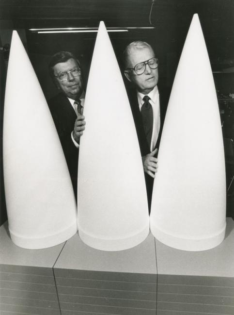 Anonymous, PatriotMissile Warheads Promoters 1991 Press Photo Gelatin silver print 25,3 x 20,2 cm © private collection